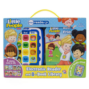 Fisher Price Little People Me Reader Jr. Electronic Reader and 8-Book Library