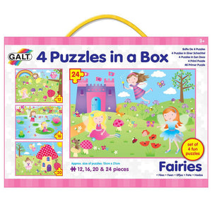 Galt Four Puzzles in a Box - Fairies