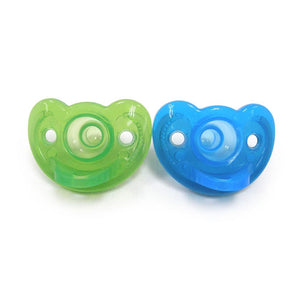 Gumdrop Infant Pacifier 2 Pack in Blue and Green - 3 months +