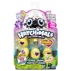 Hatchimals Colleggtibles Season 3 - 4 Pack + Bonus