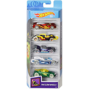 Hot Wheels 5-pack 50th Anniversary Glow Wheels