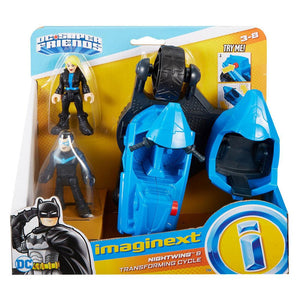 Imaginext DC Super Friends Nightwing and Transforming Cycle