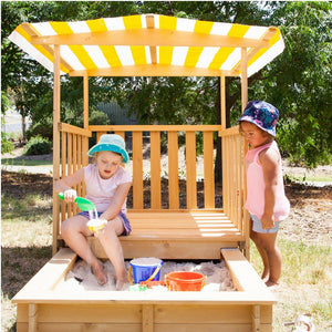 Multifunctional  Jack Sandpit with Canopy on Wheels