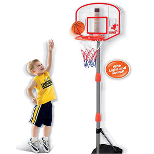 Kids Junior Basketball Hoop with Electronic Scoring - Lights & Sounds