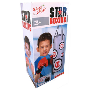 Kids Star Boxing Bag with Electronic Sounds & Gloves