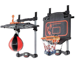King Sports Boxing and Basketball Over the Door Set with Electronic Scoring
