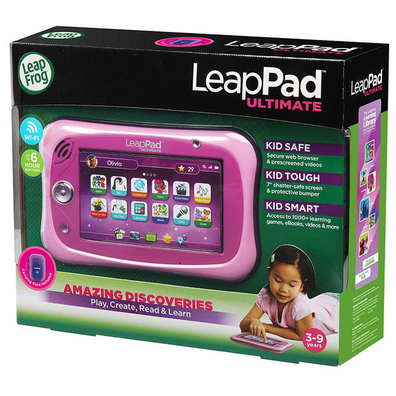 Buy LeapPad Ultimate Tablet and Carry Case Bundle in Pink online at Toy Universe