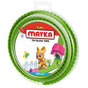 Zuru Mayka Toy Block Tape - 2 Stud Light Green