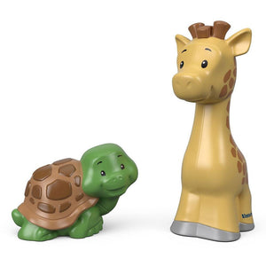 Little People Animal Figure 2 Pack - Giraffe and Turtle