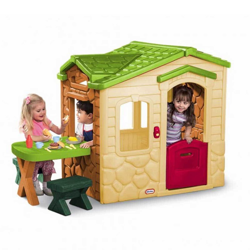 Buy Little Tikes Picnic on the Patio Playhouse in Natural ...