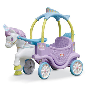 Little Tikes Unicorn Horse and Carriage Ride On Coupe