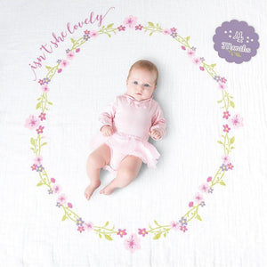 Lulujo Isn't She Lovely Baby's First Year Blanket and Cards Set