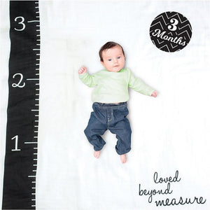 Lulujo Loved Beyond Measure Baby's First Year Blanket and Cards Set