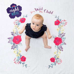 Lulujo Stay Wild My Child Baby's First Year Blanket and Cards