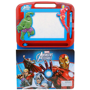 Marvel Avengers Assemble Learning Book with Magnetic Drawing Pad