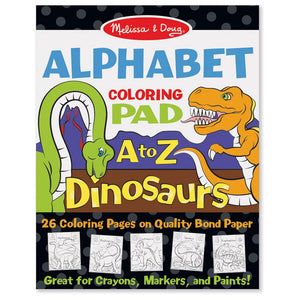 Melissa and Doug Colouring Pad - Dinosaurs Alphabet
