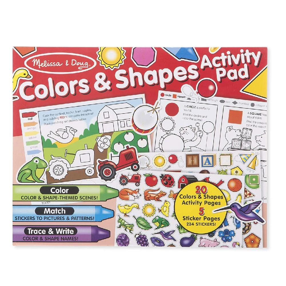 Buy Melissa and Doug Colours and Shapes Activity Pad Online at Toy ...
