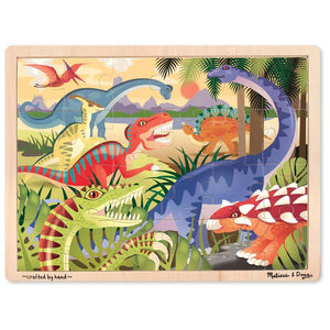 Melissa and Doug Dinosaurs Jigsaw - 24 Piece