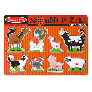 Melissa and Doug Farm Animals Sound Puzzle - 8 Piece