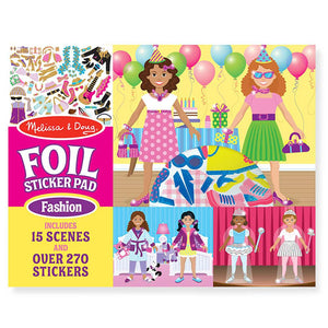 Melissa and Doug Foil Sticker Pad - Fashion