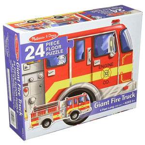 Melissa and Doug Giant Firetruck Floor Puzzle - 24 Piece
