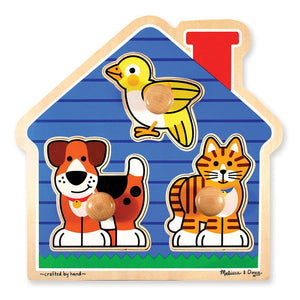 Melissa and Doug House Pets Knob Puzzle - 3 Piece