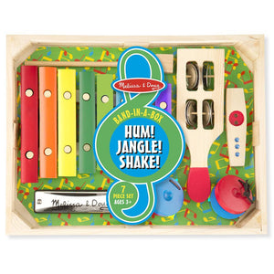Melissa and Doug Musical Instrument Band-in-a-Box  Hum! Jangle! Shake!