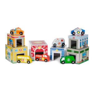 Melissa and Doug Nesting and Sorting - Buildings and Vehicles