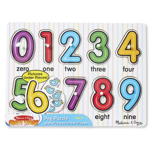 Melissa and Doug Numbers Peg Puzzle