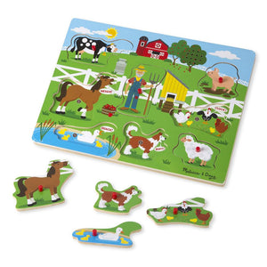 Melissa and Doug Old MacDonald Farm Sound Puzzle - 8 Pieces