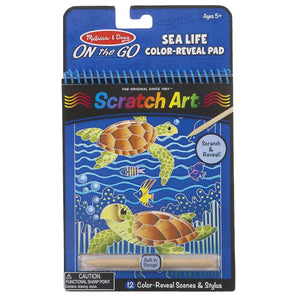 Melissa and Doug On The Go Scratch Art Sealife