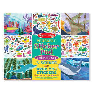 Melissa and Doug Reusable Sticker Pad - Under the Sea
