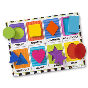 Melissa and Doug Shapes Chunky Puzzle - 8 Piece