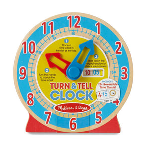 Melissa and Doug Turn and Tell Clock
