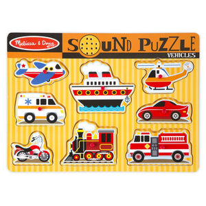 Melissa and Doug Vehicles Sound Puzzle - 8 Piece