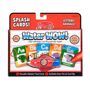 Melissa and Doug Water Wow Splash Cards - Letters, Animals