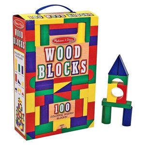 Melissa and Doug Wooden Blocks - 100 Blocks