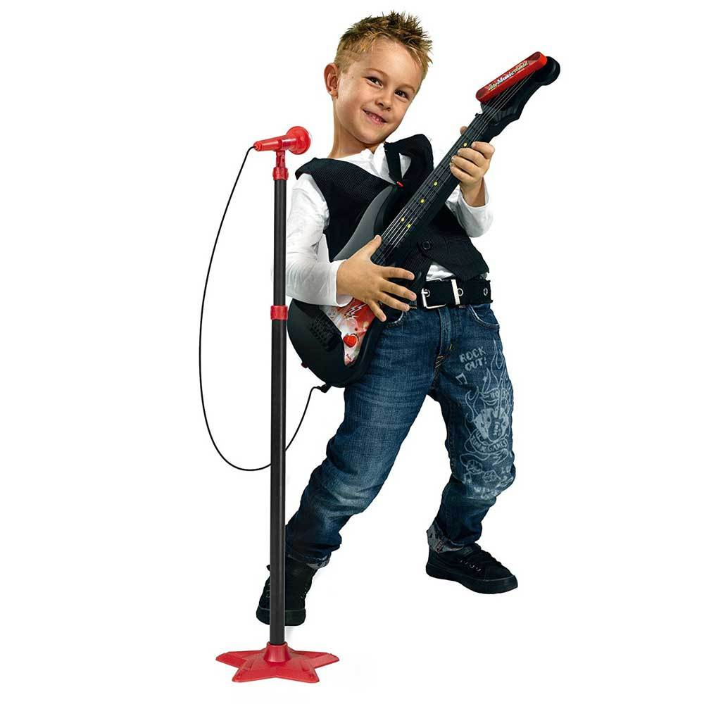 Buy Music World Kids Guitar With Microphone And Stand