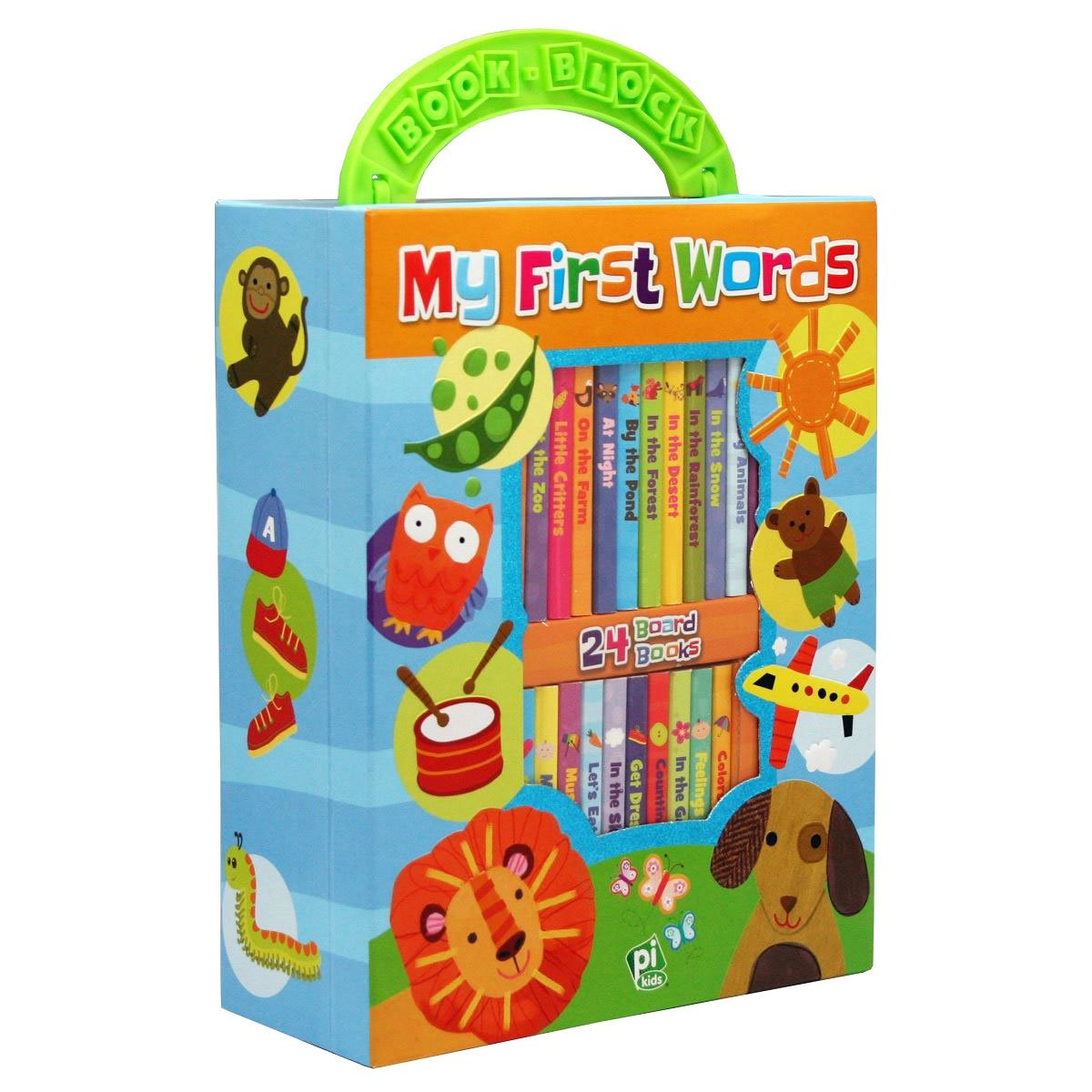 Buy My First Words Library 24 Board Book Block Online Farm At Toy Universe
