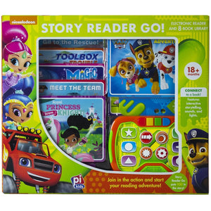 Nickelodeon Story Reader Go! Electronic Reader and 8-Book Library