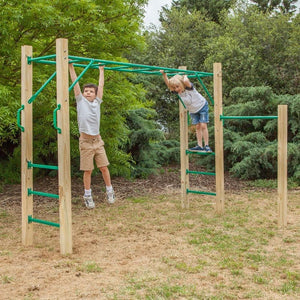 Durable Timber 2.5m Amazon Monkey Bars