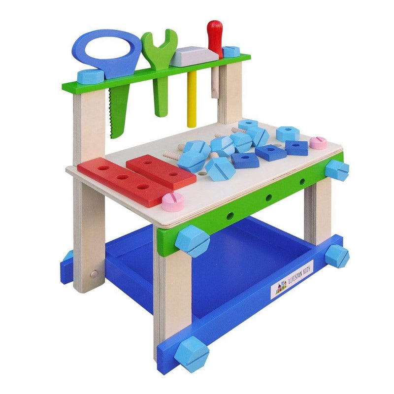 Buy Woodworx Junior Outdoor Workbench with Wooden Tools at Toy Universe Australia