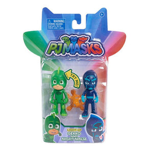 PJ Masks Light Up Figure 2 Pack - Gecko and Night Ninja