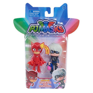 PJ Masks Light Up Figure 2 Pack - Owlette and Luna Girl