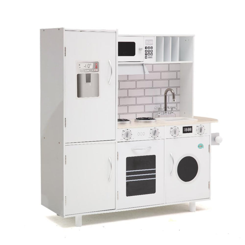 Wooden Kids Kitchen with Oven and Microwave