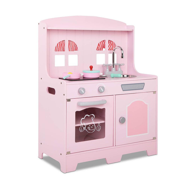 Buy Wooden Play Kitchen Set with 8 Accessories - Pink online at Toy Universe