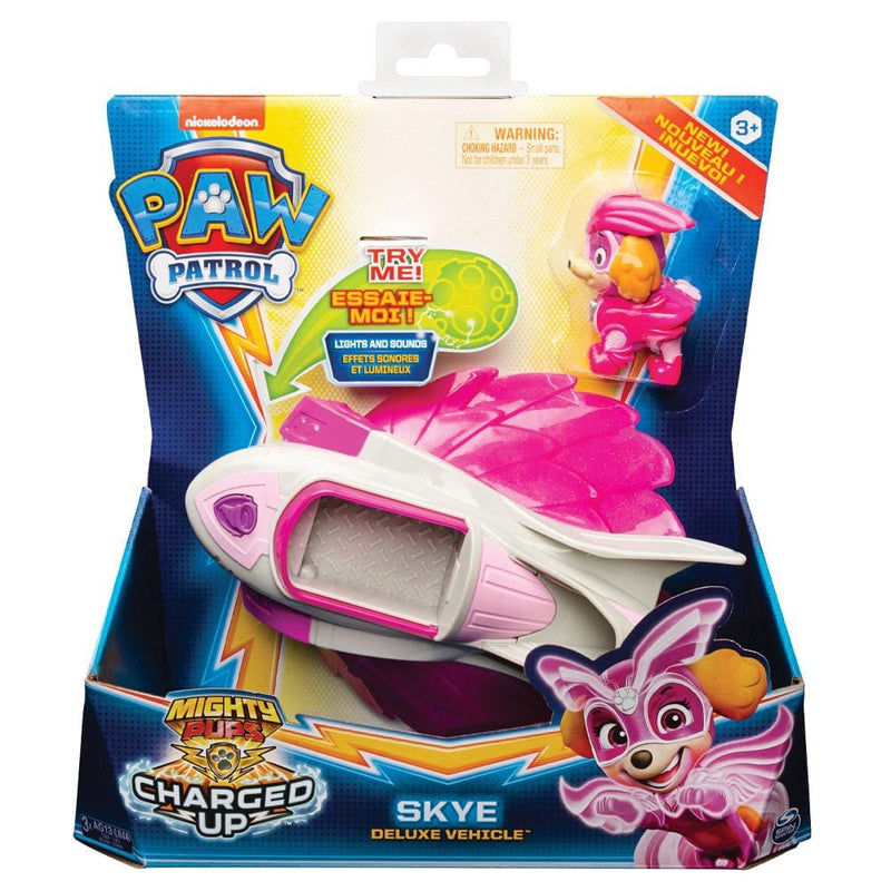 Paw Patrol Toys Paw Patrol Mighty Pups Charged Up Skye Deluxe Vehicle - Buy Online