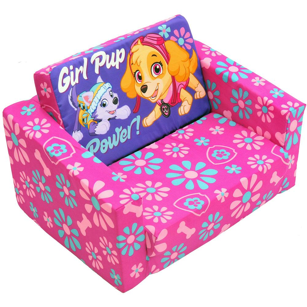 Remarkable Paw Patrol Skye Kids Flip Out Sofa Beatyapartments Chair Design Images Beatyapartmentscom