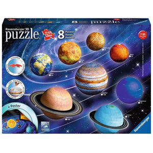 Planetary Solar System 3D Puzzle