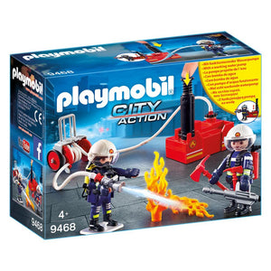 Playmobil City Action Fire Brigade Firefighters with Water Pump
